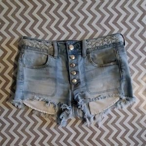 American Eagle HI Rise shortie shorts!